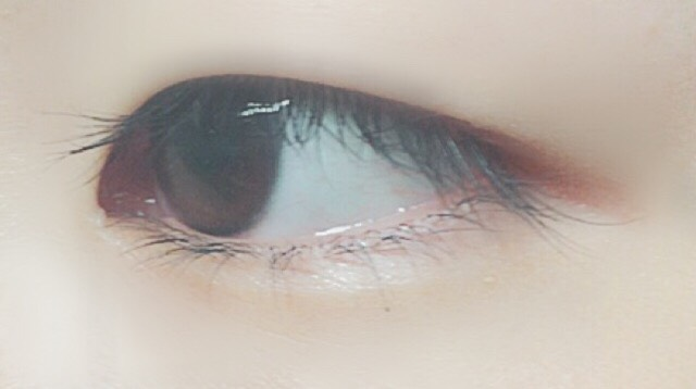 自然咖啡色系彩妝(只有眼妝)のBefore画像