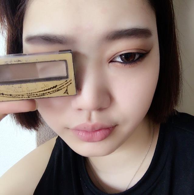 いんてぐれい。? こいつは、良い。 いつも使います。 太眉らぶっ♡ このあと、使わなくなったマスカラで眉毛を塗っていきます。
