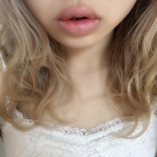 Lip makeのBefore画像