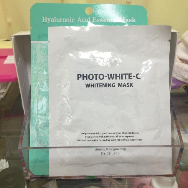 おまけ 左から ヒアルロン酸 エッセンスマスク  ドクターシーラボ 薬用 ホワイトニングマスク