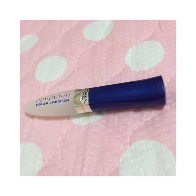 ♡まつげ美容液 ロレアルパリ RW ラッシュ セラム 01 クリア ・両目の上まつげ下まつげ共にたっぷり塗ります。