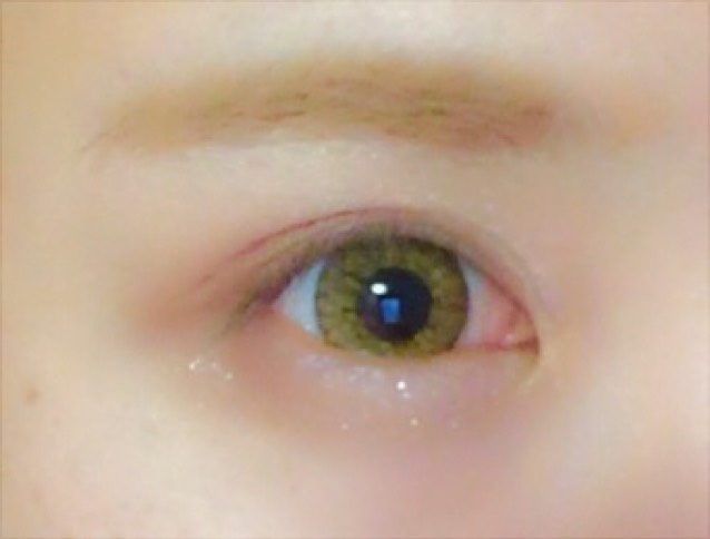 ケイトのシャドウでラメを瞼と下瞼にon! その後レブロンのブラウンのシャドウを瞼と下瞼に!