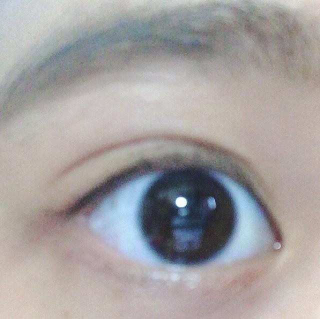簡單的眼妝☆(2分鐘)(沒有配戴角膜變色片)のBefore画像