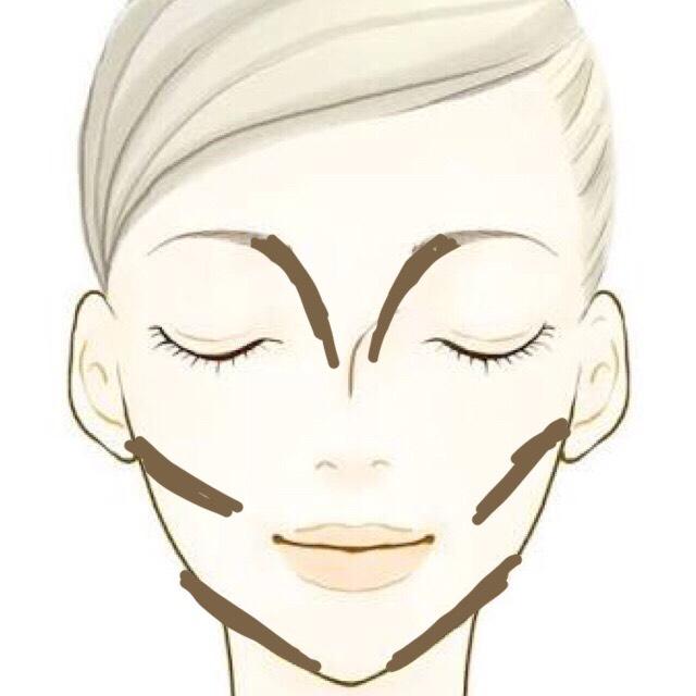 ローライトを頬骨の下 フェイスライン ノーズ にいれますヽ(`・ω・´)ノ
