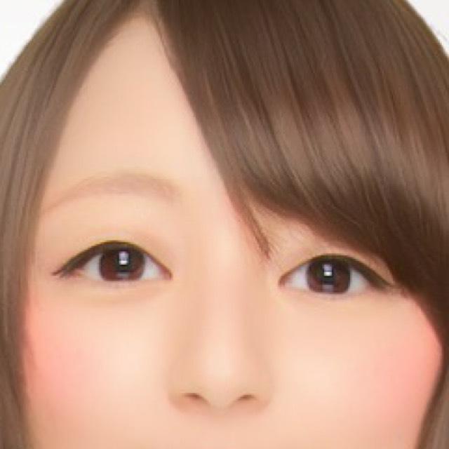 自然的雙眼皮のBefore画像