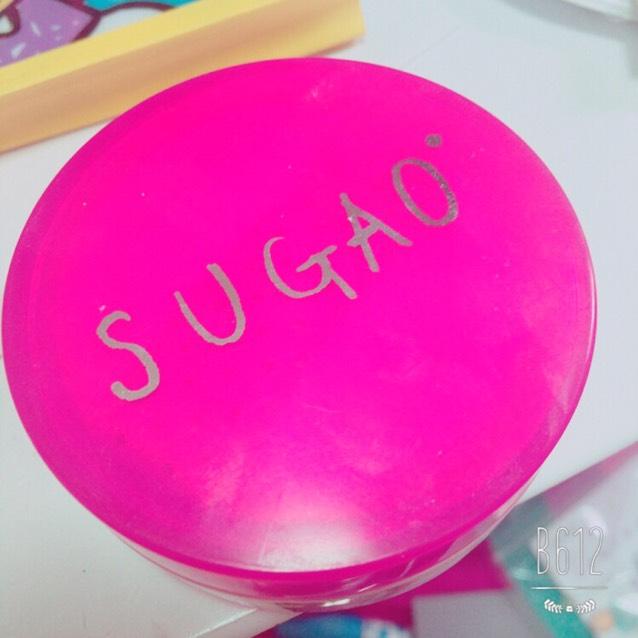 sugaoのフェイスパウダー ベビーピンクです。これにも日焼け止めが入っています。