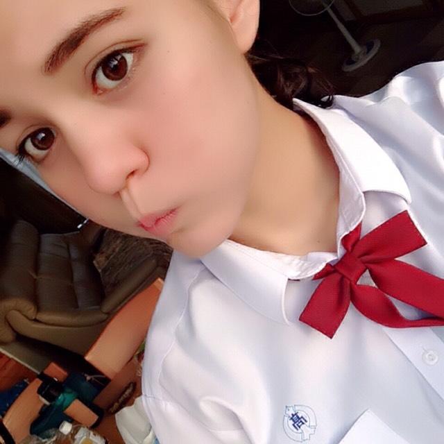 学校メイク/変顔☚