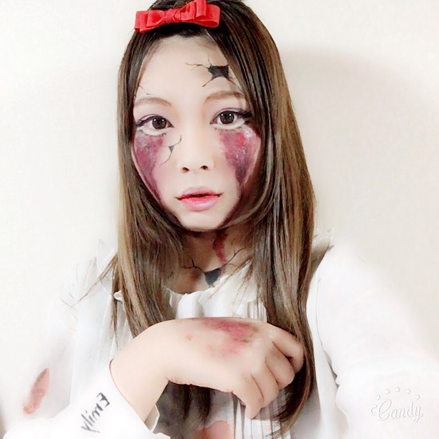 Halloween メイク✨ BROKEN DOLL♡