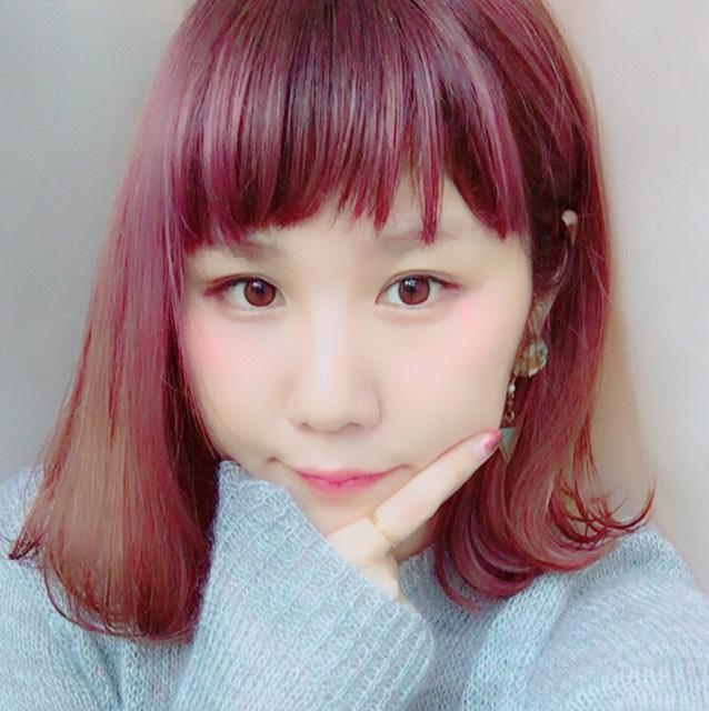 ヘアカラー☆ピンクバイオレット