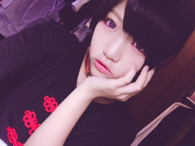 ピンク紫メイク