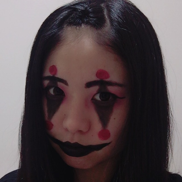 ハロウィンメイク~簡単ピエロ~