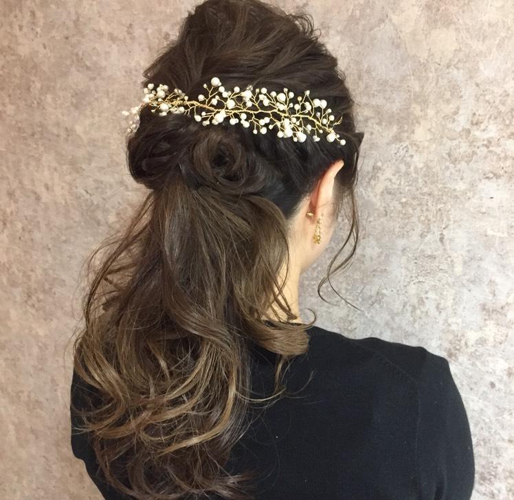 結婚式でのヘアセット