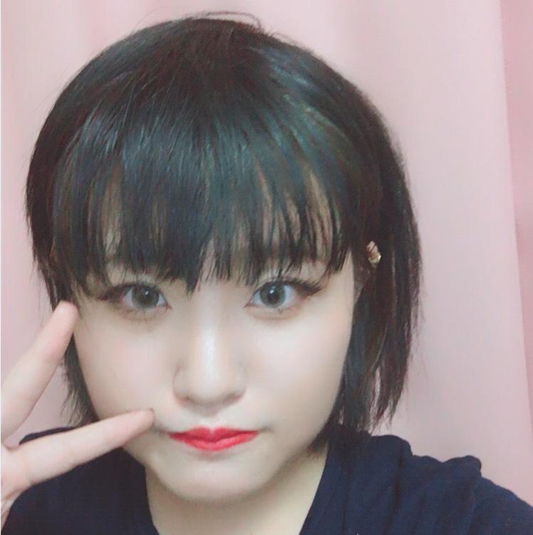 黒髪×グレーカラコン ギャルメイク