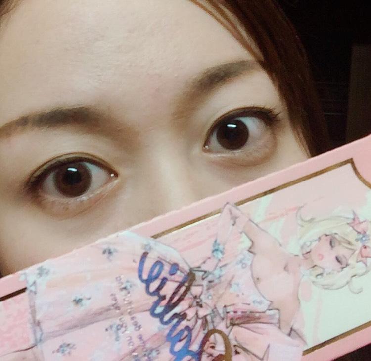 ナチュ盛り(仕事用)スウィートモーメンツ 左←カラコン 裸眼→右