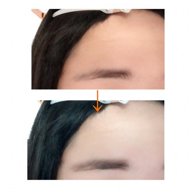 眉毛はほぼパウダーで  少し足りない部分をペンシルで書く。 でもブラシでよくぼかす