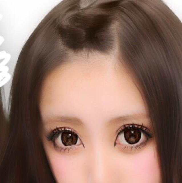 涙袋はわざとらしくかきマスカラは束感が出るように塗る 眉毛は太まゆ~