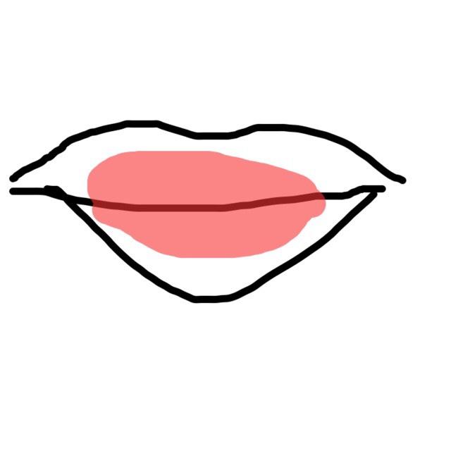 そしたら唇の中心側にティントを塗って指や綿棒で広げます。  ポイントとしてはここでしっかりと乾かします