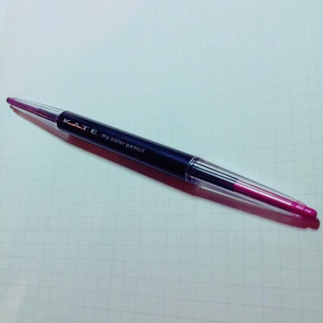次は、 KATE my color pencilのピンクとパープルを使用します¨̮♡⃛