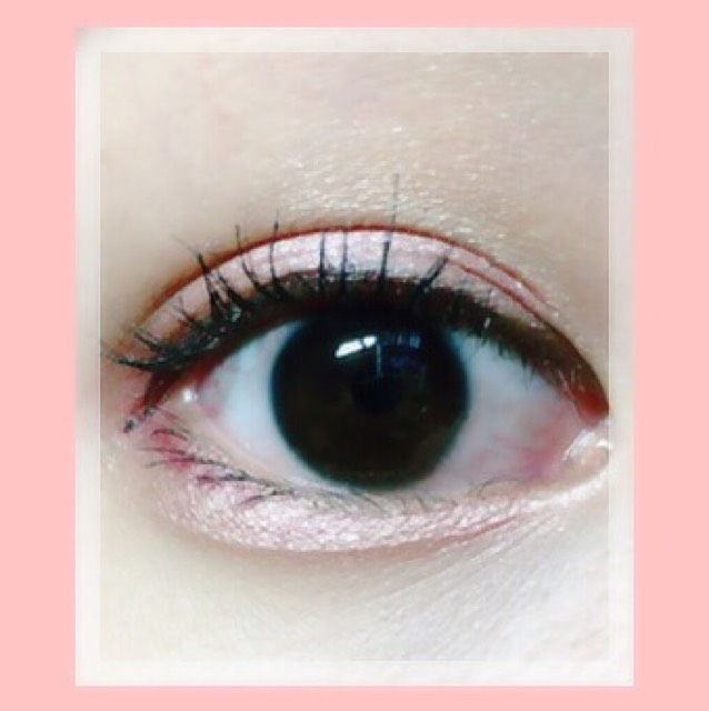 裸眼 ピンクメイクのAfter画像