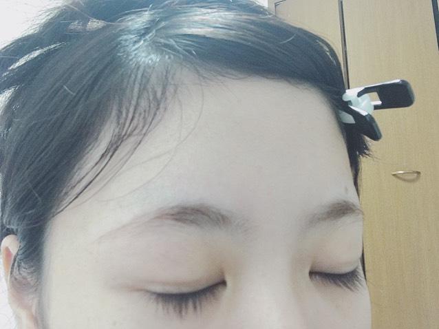 超簡単眉毛の描きかたのBefore画像