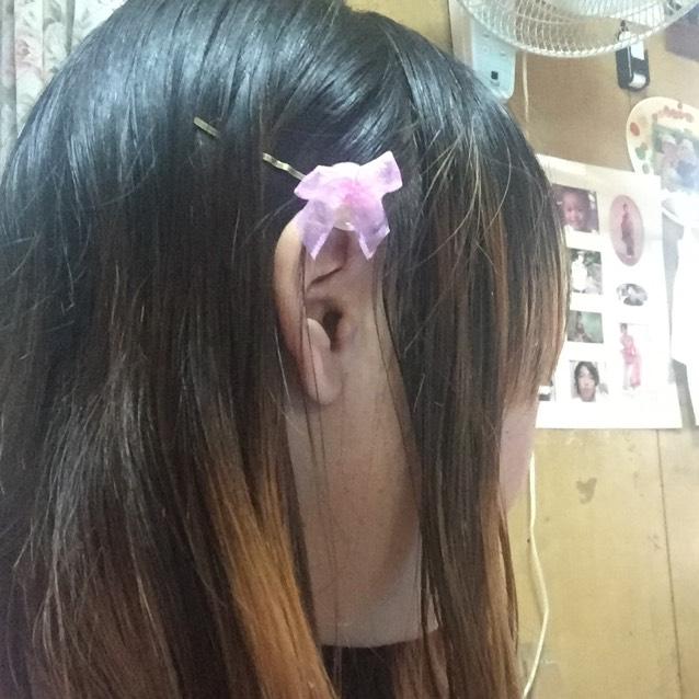 レジン ゆめかわいいヘアピンのAfter画像