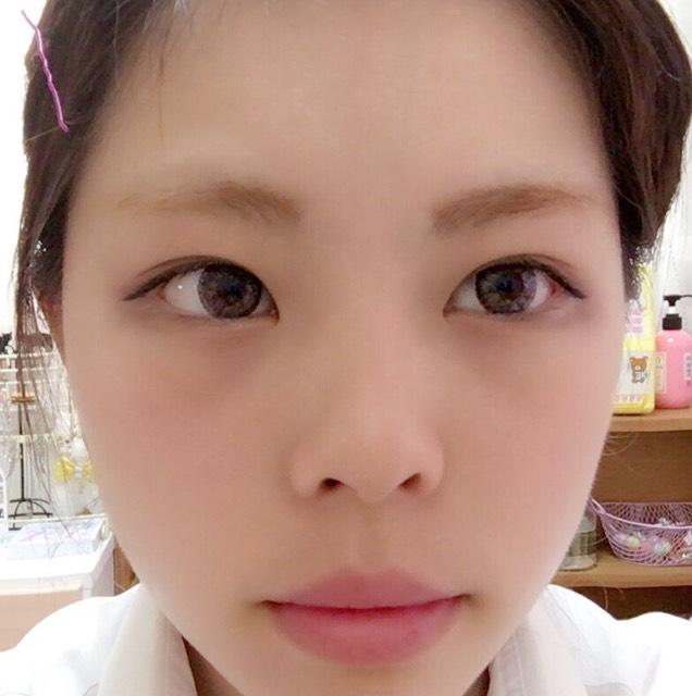 ガッツリタレ目メイクのBefore画像