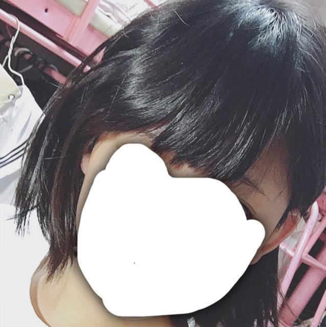 前髪の短い人のかきあげ前髪の仕方のBefore画像