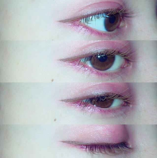 そしたら最後にまつ毛に眉マスカラを塗ります! すっっごい色素薄い感じになるのでおすすめです!!!  ヘビーローテーションのピンクブラウン06  です!