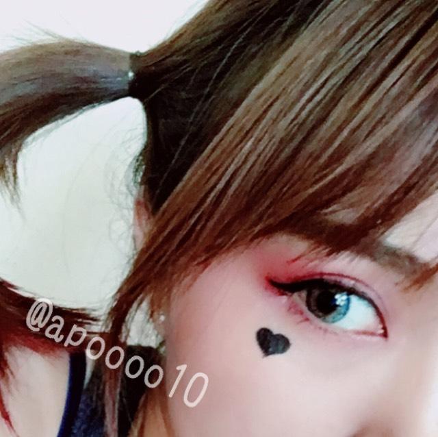 ハロウィン〜ハーレイクイン〜メイクのAfter画像