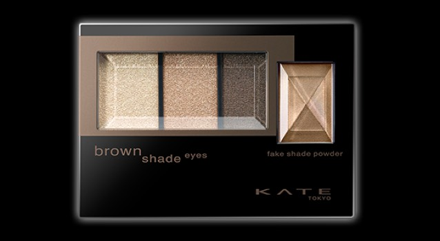 アイシャドウはKATE 左から順番にグラデーションを作ります(´ω`)