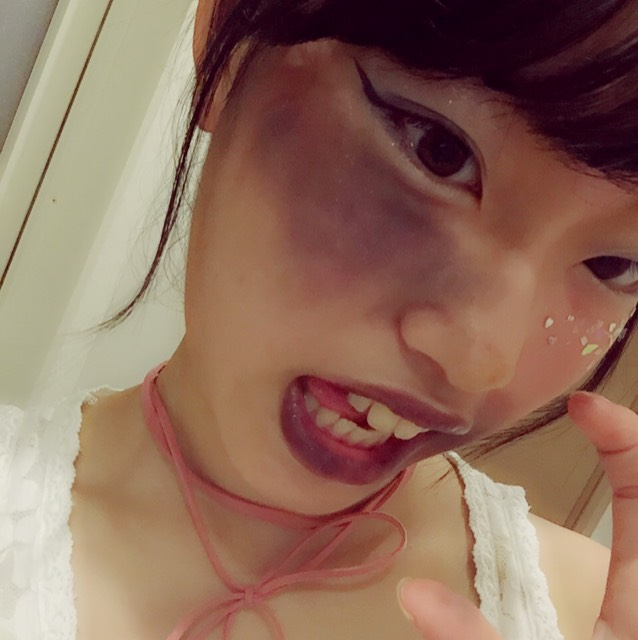 ③Halloween makeup finished!!!