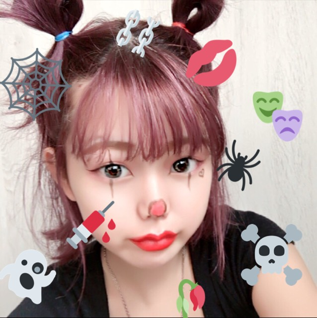❤︎  ハロウィンメイク  How to  ❤︎のAfter画像