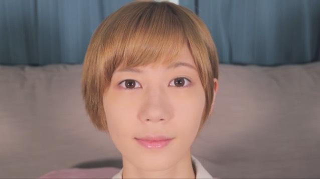 【うさぎ目メイク】ピンクシャドウでハーフメイクのBefore画像