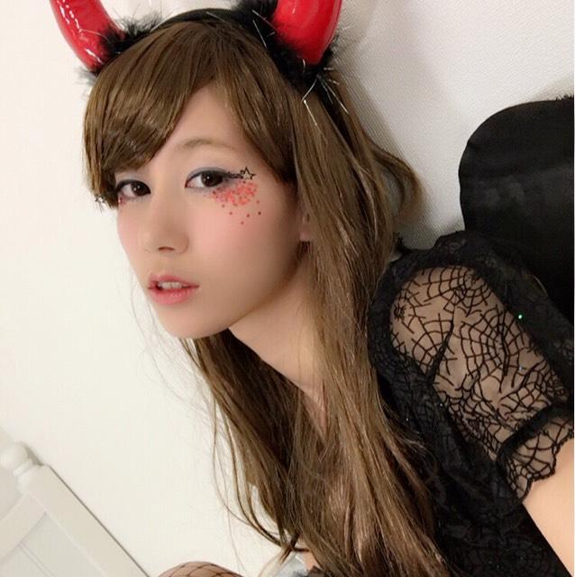 ハロウィン♡全身2500円以下の小悪魔メイク&コスのAfter画像