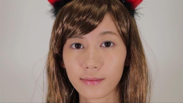 ハロウィン♡全身2500円以下の小悪魔メイク&コスのBefore画像