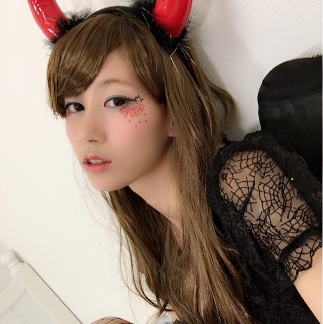ハロウィン♡全身2500円以下の小悪魔メイク&コス
