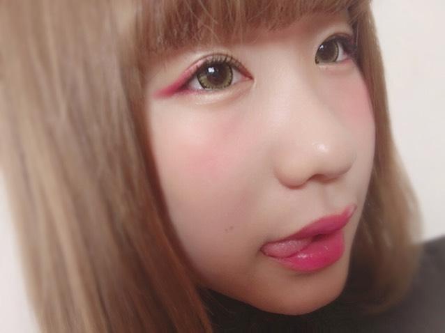 ピンクカラーメイクのAfter画像