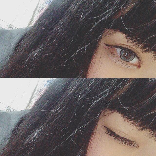 目のアップ☆〜(ゝ。∂)