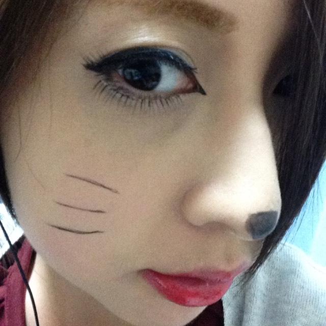 猫メイクのAfter画像