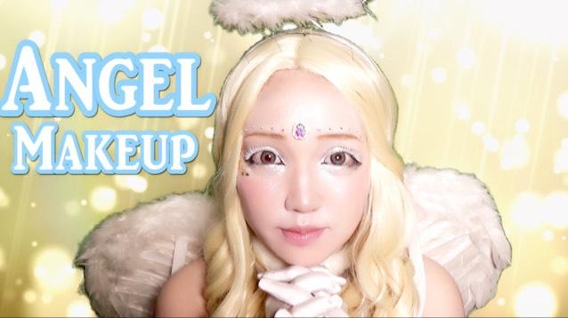 天使グリッターハロウィンメイクのAfter画像