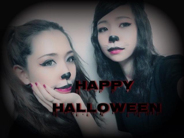 Halloween猫メイク( ΦωΦ )