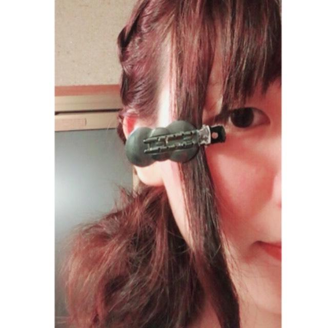 逆毛を立てます。
