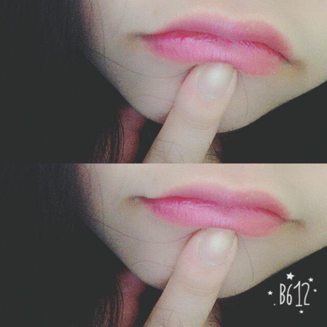 シャネルの肌なじみの良い ピンクの口紅を使いました