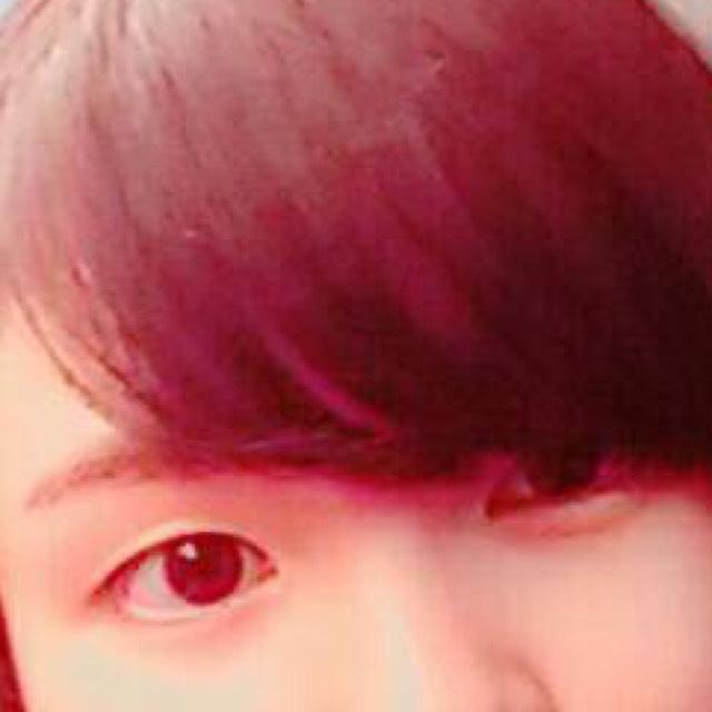ハロウィンメイク(赤ライン)のBefore画像