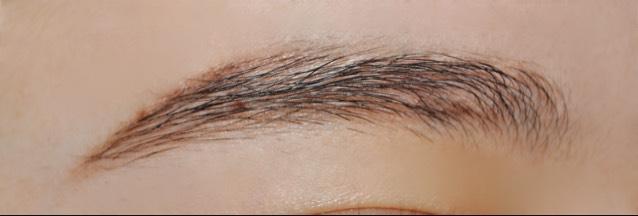 まず普通に眉毛を描いていきます!