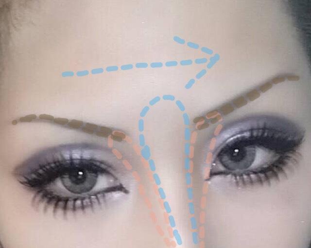 眉毛は画像の通りです…(説明下手) ノーズシャドウとハイライトを入れて完成です!