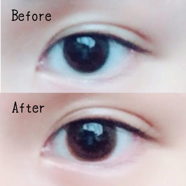 まずカラコンをいれます。 いつも使ってるのは、evercolor1day naturalのsheer lueur です。 ナチュラルに色素薄めに、瞳を大きくしてくれます(*´˘`*)♡