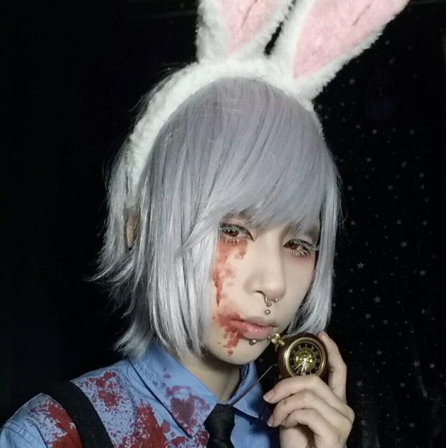 歪みの国のアリス(シロウサギ)風メイクのAfter画像