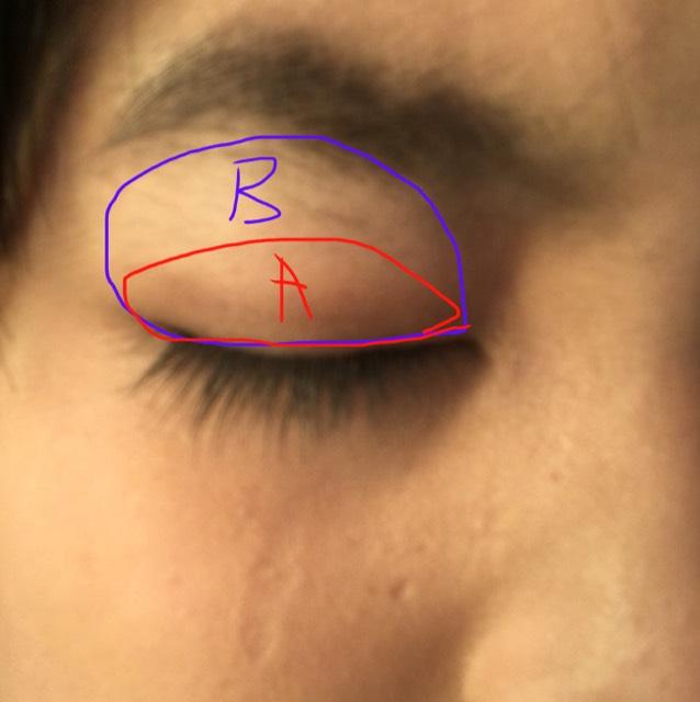 AとBを薄くA、Bの準で塗ります