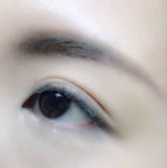 大人♡カーキ スモーク アイ♡のBefore画像